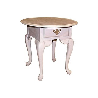 Painted Oak Side Table For Sale
