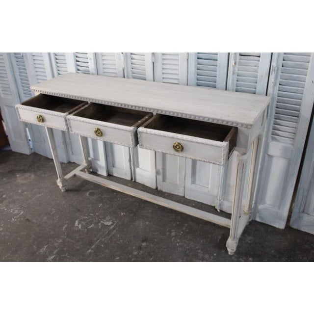 20th Century Vintage French Louis XVI Style Console For Sale - Image 10 of 12