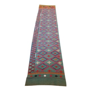 "Vintage Anatolian Nomad Embroidered Cecim Runner - 2'11"" x 8'6"""