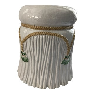 Mid-Century Italian Ceramic Garden Seat For Sale