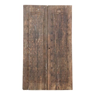 Pair of 19th Century Rabat Moroccan Doors For Sale