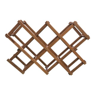 Mid-Century Vintage Wood Wine Rack