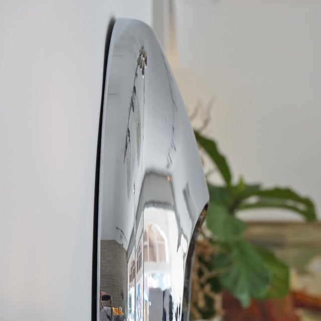 1970s Chrome Orb Mirror For Sale - Image 4 of 6
