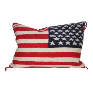 Navajo Indian Weaving Flag Pillow For Sale