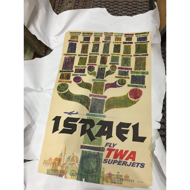 Industrial 1960 David Klein 'TWA Israel' Poster For Sale - Image 3 of 9