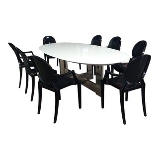 Cantoni Dining Table & Chairs - Set of 9