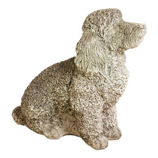 Antique Cocker Spaniel Dog Garden Ornament For Sale