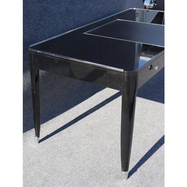 Black Ralph Lauren One Fifth Paris Bureau Plat Writing Table Desk For Sale In Philadelphia - Image 6 of 11
