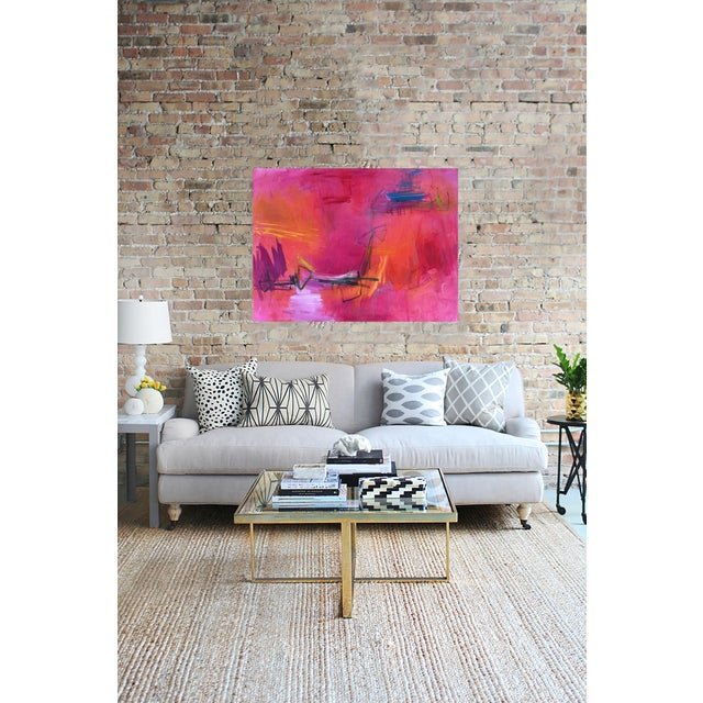 """Large Abstract Painting by Trixie Pitts """"High Road"""" - Image 4 of 6"""