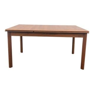 Danish Modern Teak Draw Leaf Dining Table For Sale