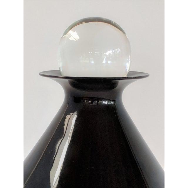 1980s Vintage Mario Pinzoni for Seguso Vetri d'Arte Glass Bottle For Sale In Miami - Image 6 of 13