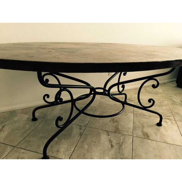 Arhaus Hammered Copper Oval Dining Table - Image 6 of 6