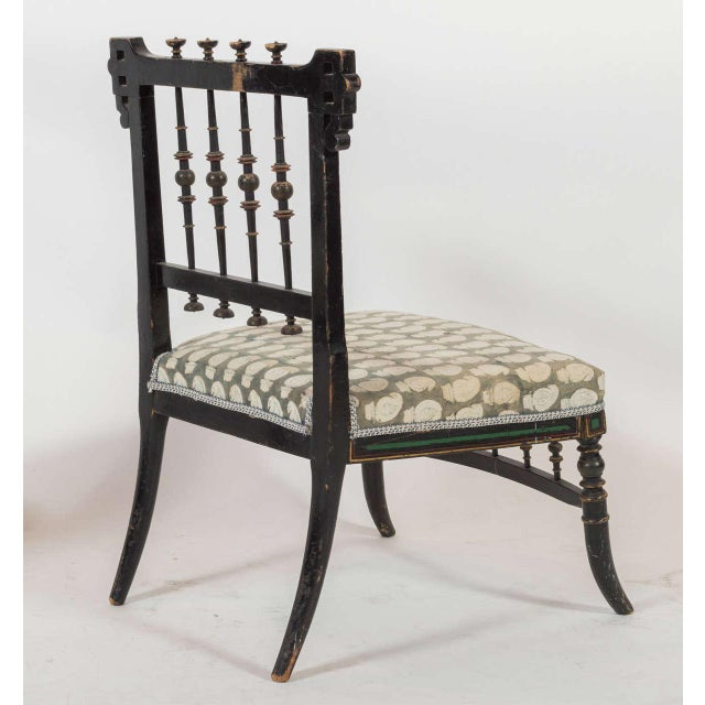 Pair of Antique Parlor Chairs For Sale - Image 4 of 9