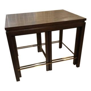 Edward Wormley for Dunbar Walnut Nesting Tables - Set of 3 For Sale