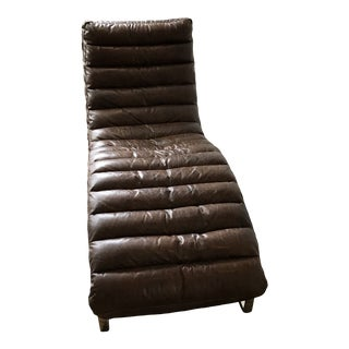 Restoration Hardware Oviedo Chaise in Vintage Cigar Leather For Sale