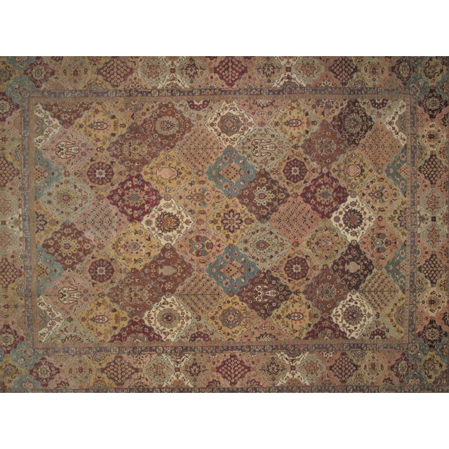 "Traditional Brown Agra Carpet - 9'4"" X 12'4"" For Sale - Image 3 of 5"