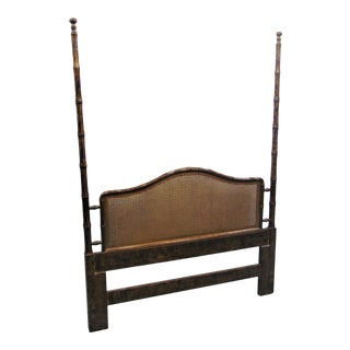 Hollywood Regency Faux Bamboo Queensize Headboard For Sale