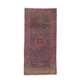 1920s Vintage Khotan Rug-4′ × 7′10″ For Sale