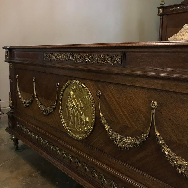 19th Century French Louis XVI Queen Bed With Ormolu For Sale In Dallas - Image 6 of 13