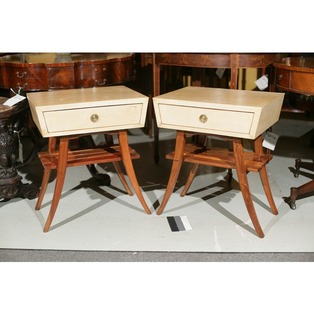 Art Deco Parchment Stands - A Pair For Sale - Image 4 of 10