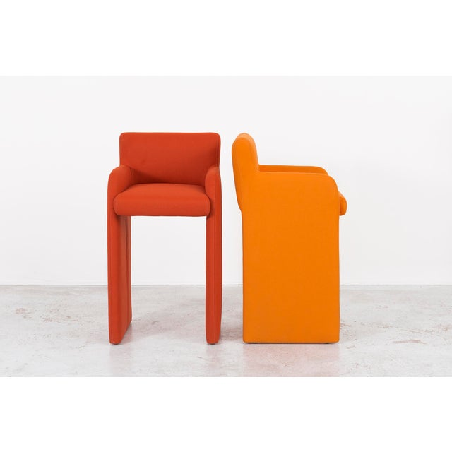 Milo Baughman Gradient Stool Chairs - Set of 4 - Image 4 of 9