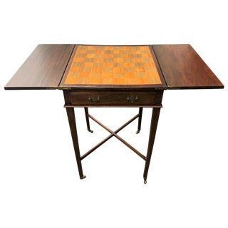 Small Drop Leaf Game, Occasional Side Table, Circa 1920 For Sale
