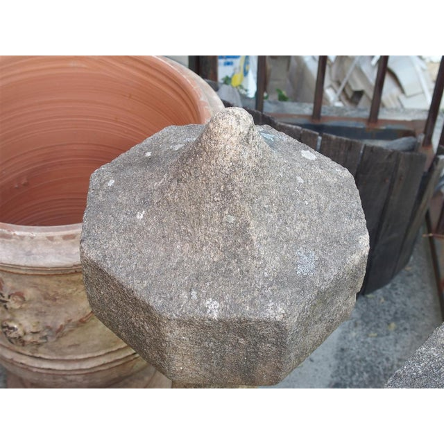 Farmhouse 17th Century French Granite Garden Posts For Sale - Image 3 of 13