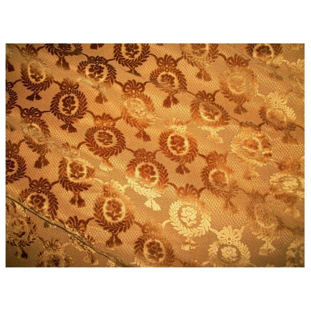 Antique 19th Century Hamot Floral Fabric For Sale