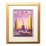 Image of 1970s Vintage New York City Travel Art Poster Print For Sale
