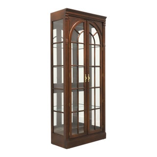 Knob Creek Mahogany Chippendale Curio / China Display Cabinet For Sale