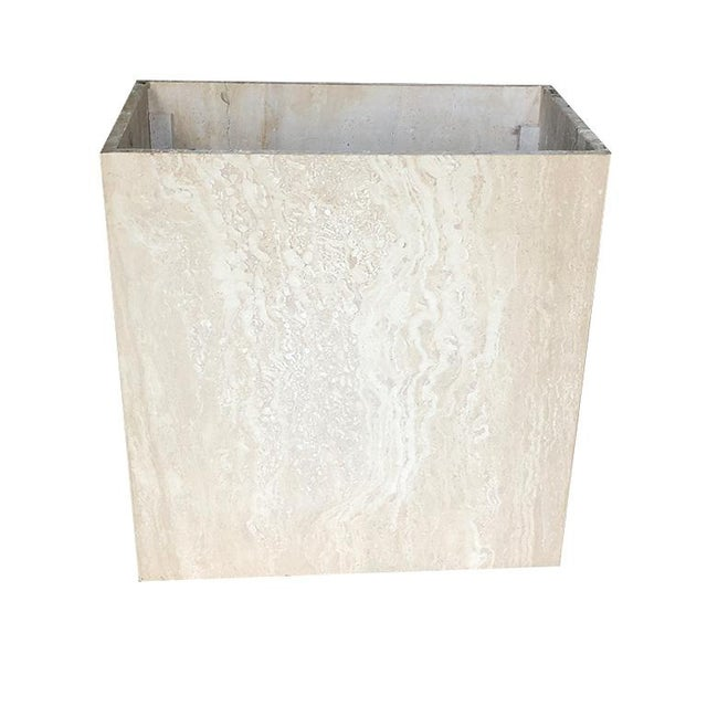 Travertine Square Stone Italian Maximalist Table Base by Artedi Made in Italy For Sale - Image 10 of 12