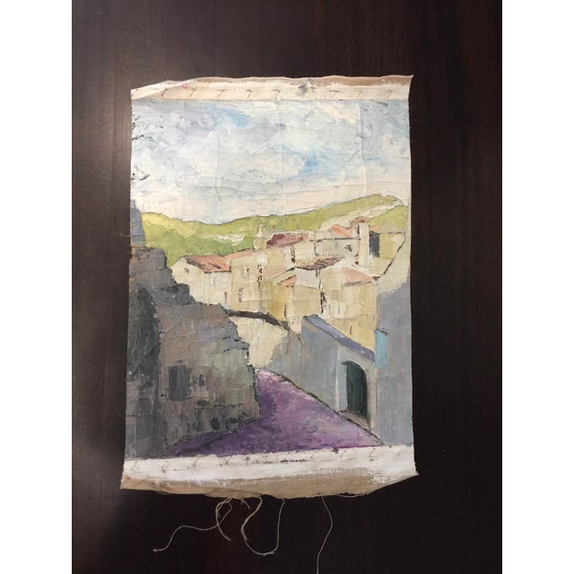 Vintage French impressionistic Fragment Painting - Image 2 of 3