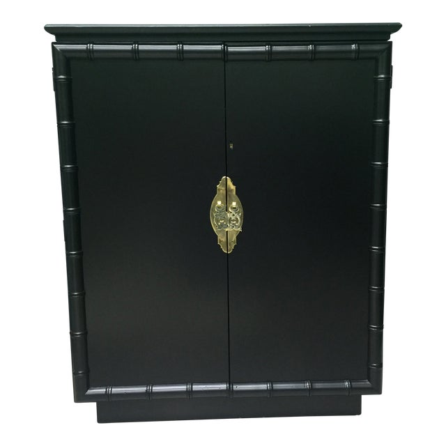 Faux Bamboo Bar Cabinet For Sale