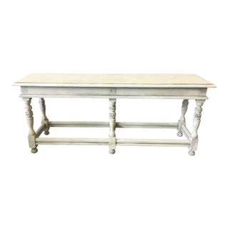 19th C. English Painted Cottage Bench For Sale