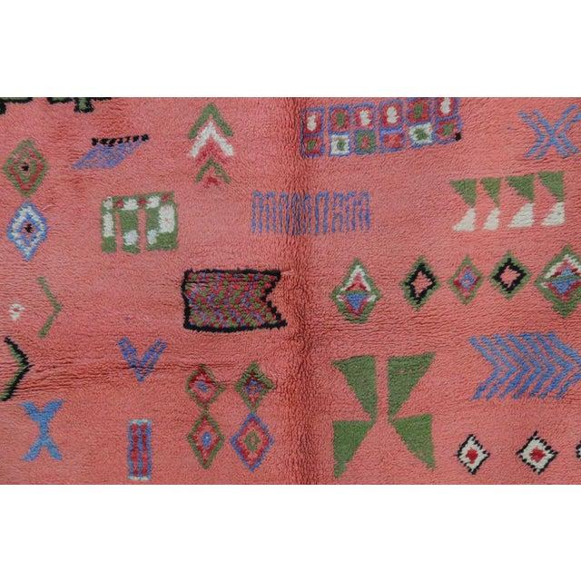 "Boujad Vintage Moroccan Rug, 3'11"" x 7'6"" feet - Image 3 of 6"