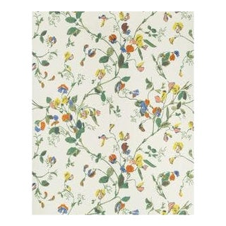 Cole & Son Sweet Pea Wallpaper Roll - Yellow For Sale