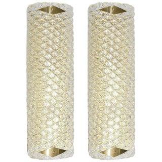 Pair of Diamante Sconces / Flush Mounts by Fabio Ltd For Sale