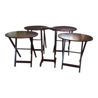 Bombay Co. Oval Snack Tables - Set of 5 For Sale