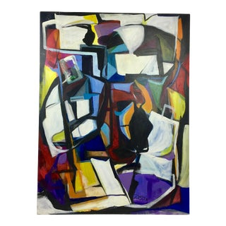Deon Robertson Abstract Oil on Canvas Painting For Sale
