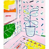 """Image of """"Interior with Fig Tree"""" Contemporary Fauvist Style Mixed-Media Painting by Matt Higgins For Sale"""