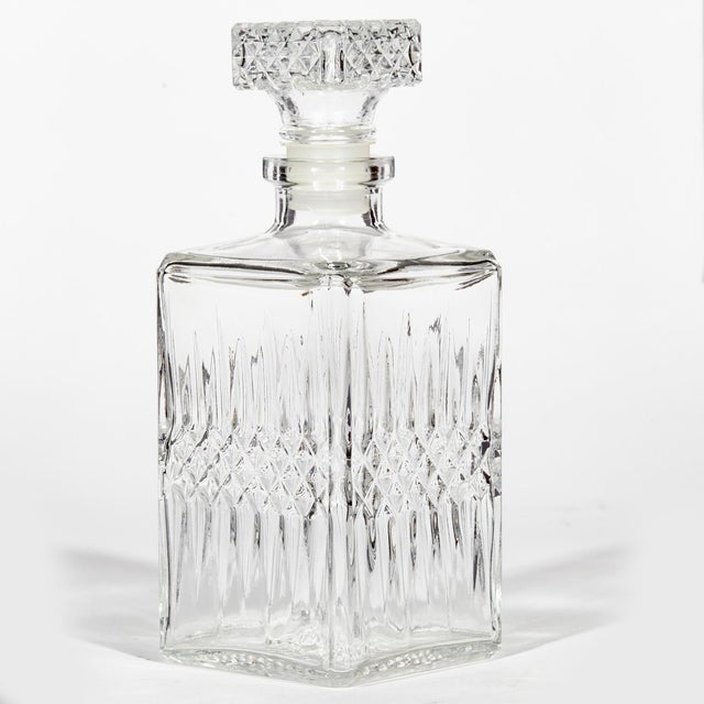 1960s 1960s Square Glass Decanter For Sale - Image 5 of 5