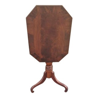 19th Century Empire Mahogany Tilt Top Table