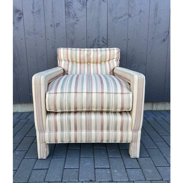 Milo Baughman Style Parsons Chair For Sale - Image 13 of 13