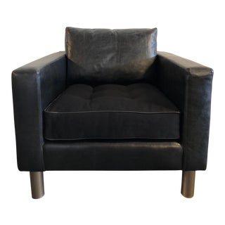Ralph Lauren Home Modern Metropolis Leather Chair For Sale