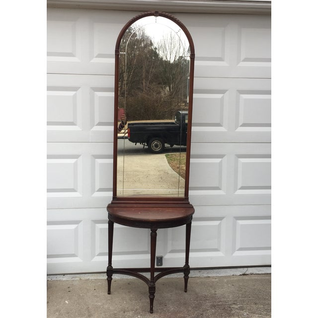 Imperial Mahogany Console Table with Mirror - Image 3 of 9