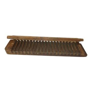 Antique Cigar Mold Press Miller Dubrul & Peters Mfg Co Wooden 20 Slot