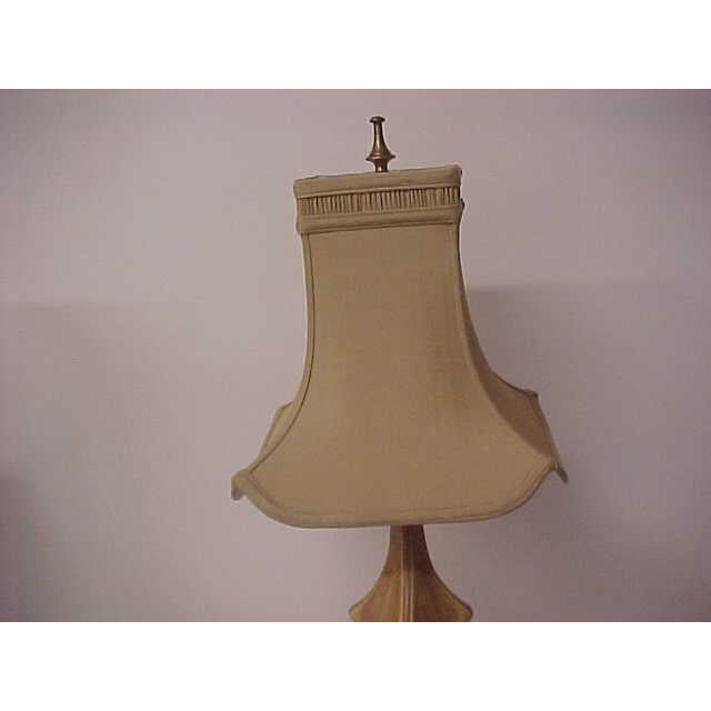 Brown Asian Style With Faux Leopard Trim Table Lamps - a Pair For Sale - Image 8 of 8