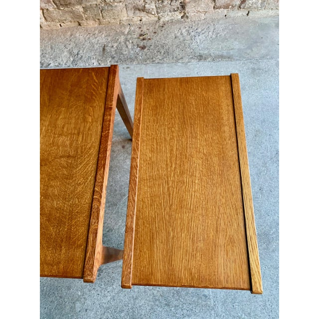Gold Midcentury Gordon Russell Nest of Tables Set of Three Oak, 1950s - Set of 3 For Sale - Image 8 of 13