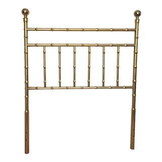 Vintage Faux Bamboo Metal/Brass Finish Twin Bed Headboard