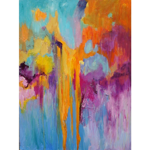 Coral Fantasy Colorful Abstract Painting For Sale